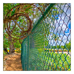 A Serious Fence (Timothy Valentine) Tags: 0418 friday vacation fence 2018 bridgetown saintmichael barbados bb