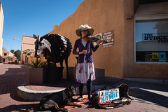 Street Violin Santa Fe (Kevin VanEmburgh Photography) Tags: chama colorado durango explore kevinvanemburghphotography nature newmexico nikon ontheroad outside southwest travel street streetphotography streetart musician music dog travelphotography santafe nikond750