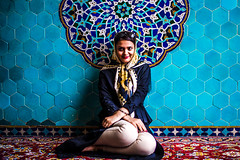 Yazd mosque, Iran 2018 (PaxaMik) Tags: iran iranianpeople yazd mosque mosquée travelinginiran travel portrait bleu blue bluemosque iranianportrait colors colorful