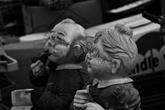 Grandma (and Grandpa). (wimjee) Tags: nikond7200 nikon d7200 afsdx55200mmf456gvrii montfort limburg nederland rommelmarkt rommel trödelmarkt garagesale zwartwit blackwhite zw bw monochrome silverefexpro2 500px