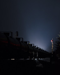 97 on the River Line (a409will) Tags: signal searchlight night oil riverline railroad train