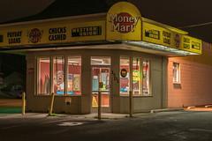 Got Money? (llabe) Tags: street moneymart nightlights night nightphotography tacoma washington nikon d750