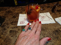 The Brandy Old Fashioned--Properly Made Only In Wisconsin (Laurette Victoria) Tags: cocktail oldfashioned hand nails milwaukee pfisterhotel bar