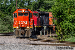 IC 9563 | EMD GP38-2 | BNSF Thayer South Subdivision (M.J. Scanlon) Tags: ©mjscanlon ©mjscanlonphotography bnsfthayersouthsub business canadiannational canon capture cargo cn cn5295 cnjunction cnmemphissub cnmemphissubdivision cnrjy30 color commerce digital downtown eje eje703 elginjolieteastern emd engine eos freight geep gmo gmo743 gp382 gulfmobileohio haul horsepower ic9563 icg9563 image impression landscape local locomotive logistics mjscanlon mjscanlonphotography memphis merchandise mojo move mover moving outdoor outdoors perspective power rail railfan railfanning railroad railroader railway real rjy30 scanlon sd402w tennessee track train trains transfer transport transportation wye