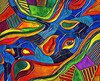 Topographical Vision (Pejasar) Tags: digitalcreations painterly color topographic vision eye fabric felt artistic art