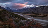 The magic of nature, Argentina (beautifullcreatures) Tags: cloud peaks surrond river andes dawn early morning argentina patagonia snow