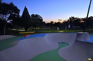 Skate lane in the park