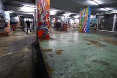 celebration (*F~) Tags: lisboa lisbon portugal underground graffiti painters light night walking walkers celebration may18 time tunnel silhouette alcântara alkantara