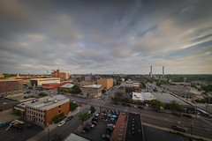 Downtown Columbia Missouri (Notley Hawkins) Tags: downtown columbia bocomo columbiamissouri notley notleyhawkins 10thavenue missouri httpwwwnotleyhawkinscom missouriphotography notleyhawkinsphotography boonebounty boonecountymissouri architecture street downtowncolumbiamissouri clouds sky skyline city outdoor buildings broadway sunset 2018 may nisi neutraldensity road building intersection car traffic nisifilter 10stop wideangle 1124mm