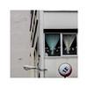 13 tonnes (hélène chantemerle) Tags: immeuble fenêtres rideaux lampe panneau ville gris monochrome building windows curtains streetlight roadsign gray