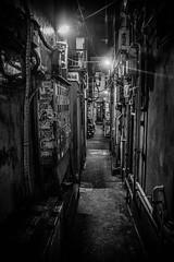 Piss Alley, Omoide Yokocho, Shinjuku, Tokyo (Black Hat Originals) Tags: night cc nikon winter honeymoon street city cityscape shinjuku lights urban omoideyokocho lightroom adobe d5300 landscape yokocho tokyo japan
