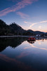 Cold dusk in Xidi, Anhui, China (Picocoon图茧) Tags: pond reflection lake mountain hill cold winter dusk boat chinese xidi anhui china travel
