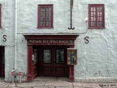 ... (Jean S..) Tags: windows door pub restaurant old ancient wall street white red