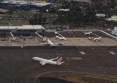 Virgin Australia 737 at Adelaide Airport (Simon_sees) Tags: saab rex regionalexpress 737 boeing virginaustralia virgin windowseat travel fly flight passenger jet plane airport airplane aircraft