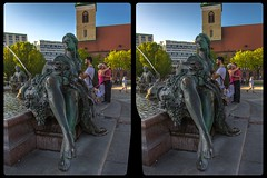Neptune fountain, Berlin 3-D / CrossEye / Stereoscopy / HDRaw (Stereotron) Tags: berlin spreeathen mitte metropole hauptstadt capital metropolis brandenburg city urban fountain sculpture streetphotography citylife europe germany deutschland crosseye crossview xview pair freeview sidebyside sbs kreuzblick 3d 3dphoto 3dstereo 3rddimension spatial stereo stereo3d stereophoto stereophotography stereoscopic stereoscopy stereotron threedimensional stereoview stereophotomaker stereophotograph 3dpicture 3dimage twin canon eos 550d yongnuo radio transmitter remote control synchron kitlens 1855mm tonemapping hdr hdri raw