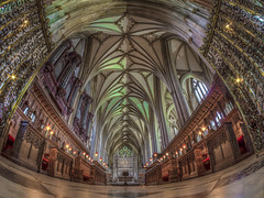 are we walking into oblivion (Wizard CG) Tags: bristol cathedral hdr uk architecture gothic college green olympus epl7 ngc world trekker micro four thirds 43 m43 mzuiko digital ed tourist attraction light windows church building indoor fisheye ceiling room people symmetry vault window arch