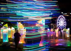 Light City (Dave Fine) Tags: night fun art vibrant md baltimore ferriswheel publicart light glow longexposure scene colorful unitedstates outside lines horizontal artfestival nighttime outdoors lightcity usa maryland baltimoreinnerharbor bmore us