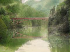 Red Bridge (chikuma_riv) Tags: japan nature landscape river lake mountain forest flower sunset sunrise spring summer autumn winter leaves