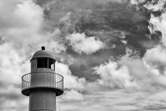 lighthouse (ale_brando) Tags: lighthouse coast ireland dingle 2011 countykerry dull dullday clouds cloudy dinglepenisula land blackwhite monochrome sky building silverefexpro niksoftware nikonfx fx
