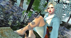White Wisteria. (亗. к ᴀ ɴ ᴀ . 亗 (I'm Japanese)) Tags: secondlife sl snapshot ss secondlifefashion secondlifeblog secondlifefurniture fashion furniture fashionblog event events japan redeux flf fiftylindenfridays fantasyfaire naminoke doe enfersombre tomoto s0ng bauhausmovement anc asteroidbox rh rhdesignhouse セカンドライフ セカンドライフブログ セカンドライフファッション セカンドライフ家具 ファッション ファッションブログ 日本 和 和物 和服 和装 着物 イベント