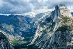 The View (Pismopup Photography) Tags: view mountains clouds majestic yosemite yosemitevalley glacierpoint landscape granite halfdome fujixt2