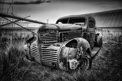 Doctor My Eyes, (D E Pabst Photography) Tags: neglected abandoned blackandwhite decay truck dodge rural asotincounty monochrome washington
