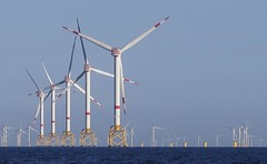 Offshore Wind Farmed (Stapleton Road) Tags: wind farm sea turbine blue sun sky blade northsea holland
