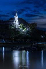 With St. Michael the archangel (tetsuyakatayama) Tags: night nightscape nightview church magichour reflection sea island sky cloud iohjima nagasaki japan