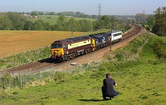 Triple Delight at Brantham (Chris Baines) Tags: drs 57305 37423 ga dvt norwich crown point cardiff canton sidings brantham kingslynn47576