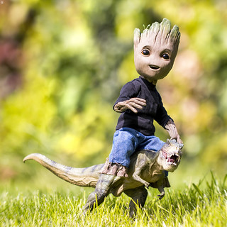 Groot the T-Rex Rider
