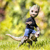 Groot the T-Rex Rider (Jezbags) Tags: groot trex rider dino dinosaur toy toys hottoys guardiansofthegalaxy guardians garden macro macrophotography macrodreams canon canon80d 80d 100mm closeup upclose grass happy