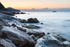 amanecer vilero (jaimeelkito2) Tags: villajoyosa alicante mediterraneo rocas amanecer nikon nikon7200 aficionado agua mar efectoseda largaexposicion nubes