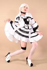 112H2L (klarissakrass) Tags: bordello plateau stockings heels highheels legfashion legsexy costume cosplay crossdress transgender gurl
