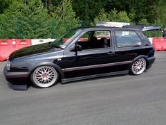 VW Golf 3 (911gt2rs) Tags: treffen meeting show event tuning tief low stance slammed mk3 iii gti rabbit dub custom schwarz black bbs felgen wheels rims