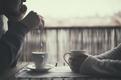 Good morning (Graella) Tags: goodmorning morning coffee cafe desayunar breakfast drink beber tea cups spoon people portrait selfportrait hands holding couple two