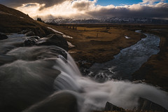 Flow (modesrodriguez) Tags: iceland travel waterfall hiddengem river water silkeffect sunrise orange sky clouds