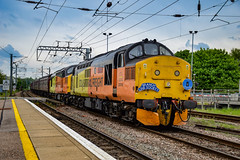 37219 + 37116 - Ely - 12/05/18. (TRphotography04) Tags: colas rail freight 37219 jonty jarvis 8121998 1832005 37116 pass ely working the 565 special take 2 branch line society 1z56 0544 carnforth norwich railtour taken 1158