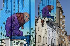 Fresque de Bozko, quai au bois de la constructions, Bruxelles, Belgium (claude lina) Tags: claudelina belgium belgique belgië bruxelles brussels fresque art streetart bozko artderue dessin peinture