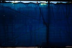 Tennis court 網球場 (Y.P. Jhou) Tags: tennis taiwan blue blur street 台灣 街頭 網球 傍晚 dusk