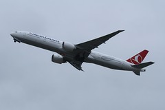 TC-LKB (IndiaEcho Photography) Tags: tclkb boeing 777300 turkish airlines london heathrow airport airfield lhr egll hounslow middlesex england civil jet aircraft aeroplane aviation airliner canon eos 1000d