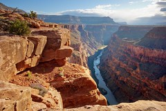 Toroweap Point (Tripple Digits) Tags: grandcanyon nationalpark toroweappoint arizona coloradoriver northrim desert canyon nature landscape sunrise scenic southwest travel river outdoor remote wilderness adventure blue sky clouds redrock cliff majestic unitedstatesofamerica