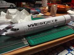 IMG_20180118_185932 (Hipo 50's Maniac) Tags: boeing 737800 westjet papercraft 1100 scale by paperreplikacom paper model aircraft jetliner plane 737 next generation