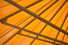 Orange tent (Furcletta) Tags: daylight nikond800 outdoor places europe switzerland arosa reallyrightstuff holydays tent roof shadow architecture construction material steel plastic colours orange grey diagonal lense che rrsbh30 rrstqc14 45mm28p