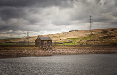 The Reservoir Pump House (Missy Jussy) Tags: pumphouse reservoir water landscape lancashire land rochdale piethornevalley piethorne valley ogden sky clouds pylons walls building view walkinglandscape moodylandscape moody atmosphere 70200mm ef70200mmf4lusm ef70200mm canon70200mm 5d canon5dmarkll canon5d canoneos5dmarkii canon outdoor outside countryside