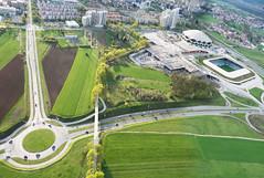Stožice panorama (kap_jasa) Tags: stožice ljubljana hall stadium sports concerts sadarvugaarchitects kiteaerialphotography kite flying urbanphotography nikon aerial slovenia