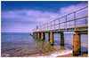 Pier (PixelRange) Tags: nikond7000 nikkor18300mm sanjaysaxena pixelrange pier sea bluesea clouds pillars water oceanview isleofwight needlespark theneedles beach alumbay ocean outdoor seascape