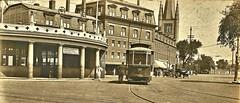 Trolley at Harvard Sq., Cambridge, MA 5-5-1918 NARA165-WW-489D-006 (SSAVE over 10 MILLION views THX) Tags: trolley streetcar 1919 cambridgema 1918