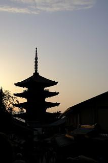 八坂の塔夕景 / Tower of Yasaka of the evening