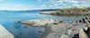 Vollen Limestone Formation (Sigurd R) Tags: asker beach bluesky clouds folding formation geologi geology limestone norge norway oslofield oslofeltet oslofjord sea shoreline sol strand sun vollen water akershus no