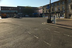 Cornhill, With No Cars (Martin Pettitt) Tags: 2018 apple burystedmunds cornhill iphone may outdoor spring suffolk towncentre uk
